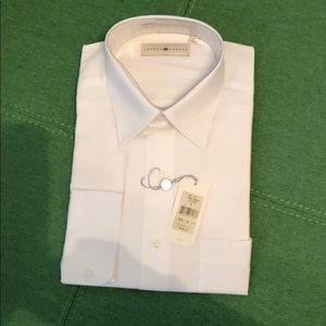 NWT Joseph Abboud LS White Dress Shirt
